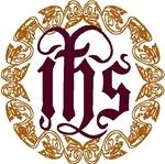 IHS Christogram and Oakleaf Frame embroidered applique