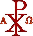 Chi Rho Alpha & Omega #2 embroidered applique