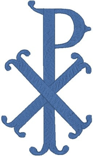 Chi Rho #5 embroidered applique