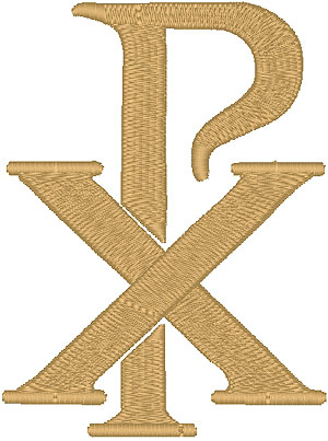 Chi Rho #1 embroidered applique