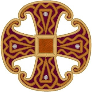 Canterbury Cross #2 embroidered applique