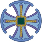 Canterbury Cross #3 embroidered applique