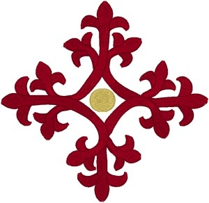 Vintage Ecclesiastical Design 686 embroidered applique