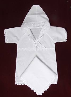 August embroidered baptismal clothes