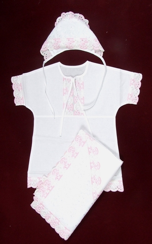 Liza embroidered baptismal clothes for newborn girls