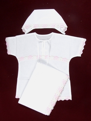Anny embroidered baptismal clothes for girls