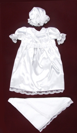 Eva embroidered baptismal clothes for girls
