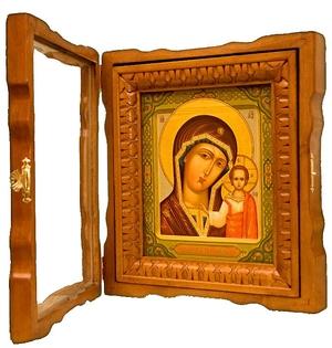 Icon cases: Elegant carved icon case (type 1)