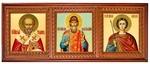 Icon cases: Triple horizontal Tail carved icon case (kiot)