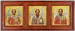 Icon cases: Triple horizontal Bud carved icon case (kiot)