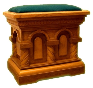 Church seat (cmall) with velvet top
