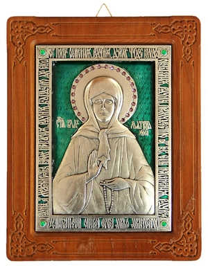 Icon of Blessed Matrona of Moscow (enameled)