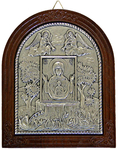 Icon of the Most Holy Theotokos of the Sign - 4 (silver-gilding)
