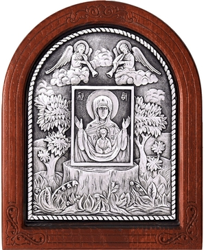 Icon of the Most Holy Theotokos of the Koursk Root Sign - A56-1