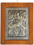 Icon of Nativity of Christ (silver-gilding)