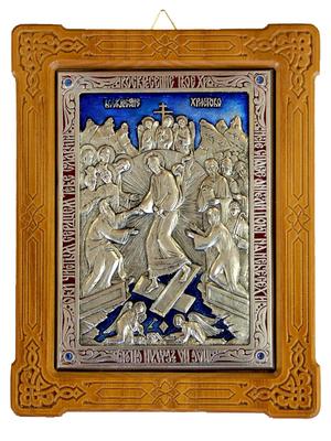 Icon of Resurrection of Christ (enameled)