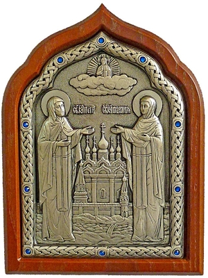 Icon of Holy Venerable Stt. Peter and Febroniya
