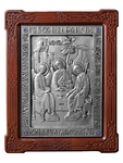 Icon of the Most Holy Trinity - 2 (silver-gilding)