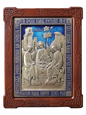 Icon of the Most Holy Trinity - 2 (enamel)
