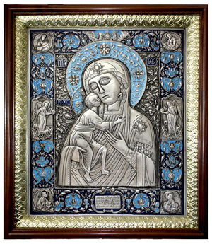 Icon of the Most Holy Theotokos of Theodorov (enamel)