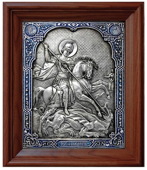 Icon of Holy Great Martyr George the Winner (enamel)