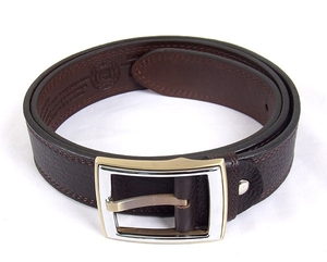 Natural leather belt with prayers S24A