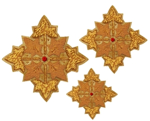 Hand-embroidered crosses - D101