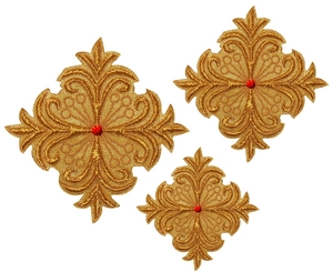 Hand-embroidered crosses - D102