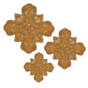 Hand-embroidered crosses - D103