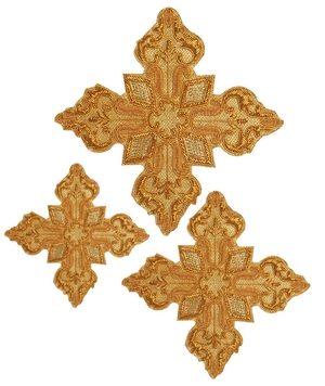 Hand-embroidered crosses - D104