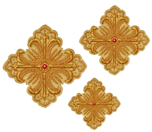 Hand-embroidered crosses - D105