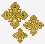 Hand-embroidered crosses - D106