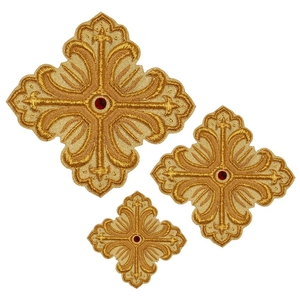 Hand-embroidered crosses - D107