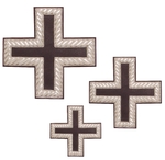 Hand-embroidered crosses - D108