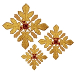 Hand-embroidered crosses - D109