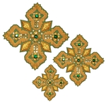 Hand-embroidered crosses - D111