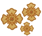 Hand-embroidered crosses - D113