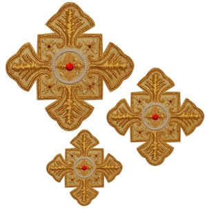 Hand-embroidered crosses - D115