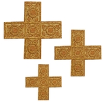 Hand-embroidered crosses - D121