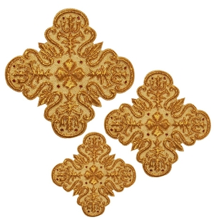 Hand-embroidered crosses - D122