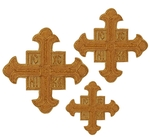 Hand-embroidered crosses - D123