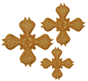 Hand-embroidered crosses - D126