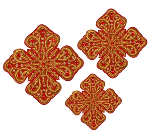 Hand-embroidered crosses - D127
