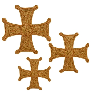 Hand-embroidered crosses - D128