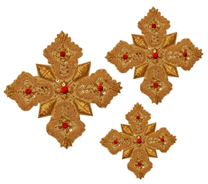 Hand-embroidered crosses - D131