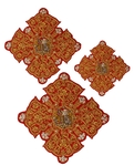 Hand-embroidered crosses - D132
