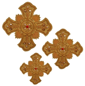 Hand-embroidered crosses - D134