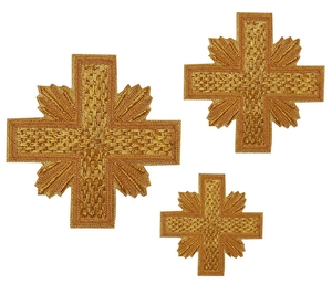 Hand-embroidered crosses - D135