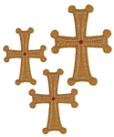 Hand-embroidered crosses - D136