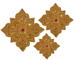 Hand-embroidered crosses - D137